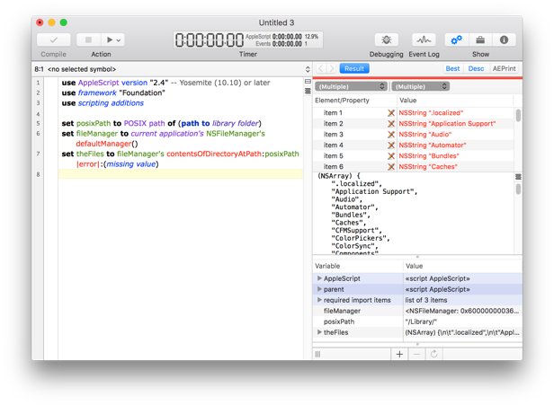 Sample AppleScriptObjC script