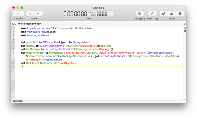 AppleScriptObjC Use Properties Off