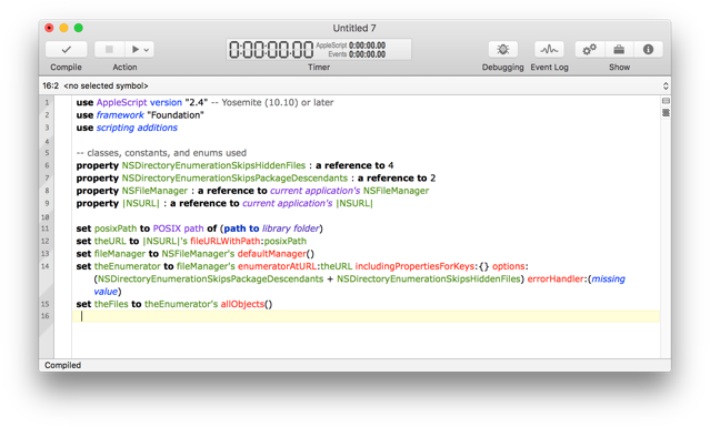 AppleScriptObjC Use Properties On